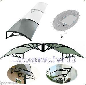 Lacasadel su misura pensilina tettoia policarbonato ingresso porta finestra ebay - Tettoia per porta ingresso ...