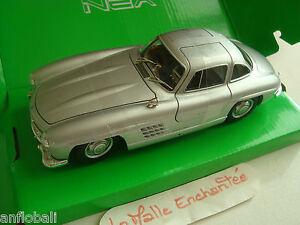 miniature-mercedes-benz-300-sl-1-24-welly-neuve-en-boite-portes-av-ouvrantes