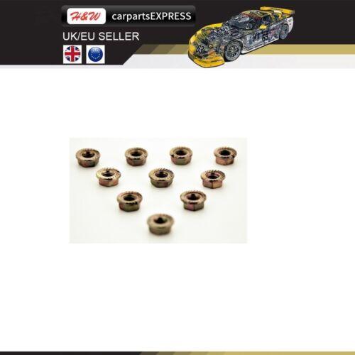 HONDA HEX M8 COOPER SELF LOCKING CARS EXHAUST MANIFOLD NUTS HEAD STUD