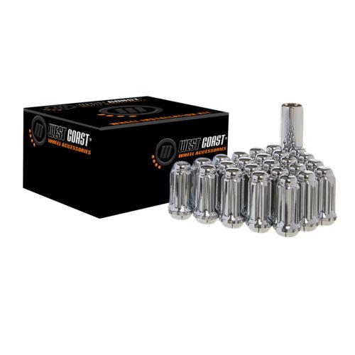 M14x2.0 West Coast 32 Lug Nut Kit w//Key Chrome Spline Drive Conical W5842ST