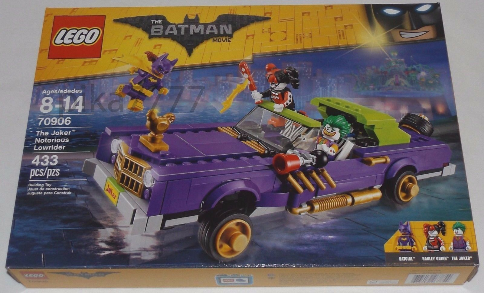 LEGO The BATMAN Movie The JOKER NOTORIOUS LOWRIDER 70906 Batgirl Harley Quinn