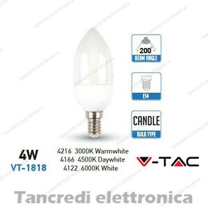 Lampadina-led-V-TAC-4W-30W-E14-VT-1818-a-candela-attacco-piccolo-smd-VTAC