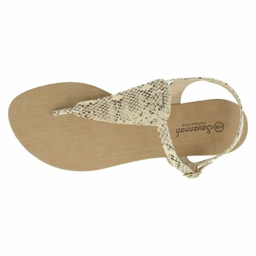 **SALE** *CHEAP* Ladies Savannah Collection Toe Post Strappy Sandals F0R894