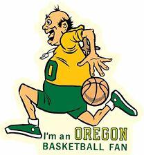 University of Oregon   DUCKS  Basketball  Vintage-Looking Travel Decal/Sticker