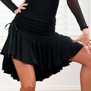 New Latin Salsa Tango Rumba Cha Cha Ballroom Dance Dress #s8101 Jupe Noir-afficher Le Titre D'origine Bon Pour L'éNergie Et La Rate