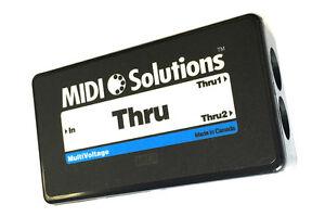 Midi Solutions Thru 1 in 2 out Midi Thru Box New, Dealer, free fast shipping 889406003842
