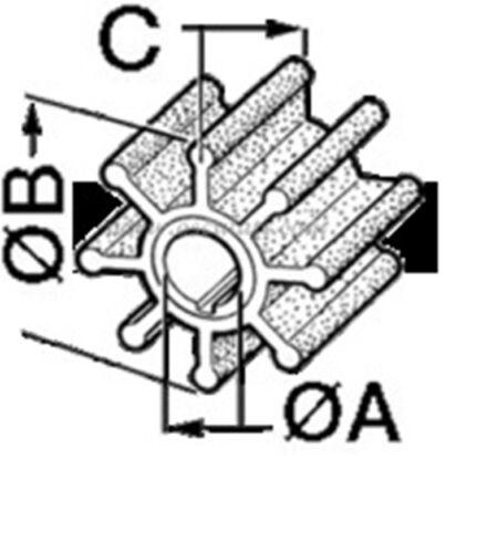 6E0-4435200 325 Art Impeller f Außenborder von Yamaha // Mariner 52.400.01 Fig