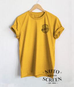Hufflepuff Crest T Shirt Pocket Print Shirt Mens Unisex Harry Potter Top Tees by Unbranded