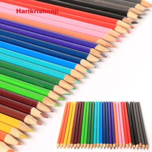 60 COLOURING COLOUR PENCILS PACK CHILDREN KIDS SCHOOL COLOURED ART CRAFT FUN
