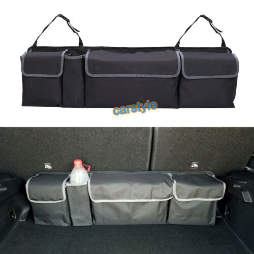 Car Boot Tidy Organiser Trunk Storage SUV Rear Seat Back Hanging Pouch Snack Bag