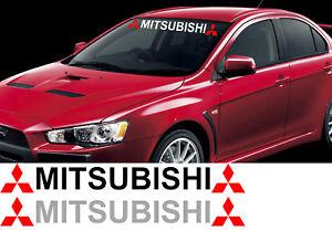Mitsubishi-Lancer-Decal-with-Logo-DE-ES-SE-Evo-Windshield-Window-Vinyl-Sticker