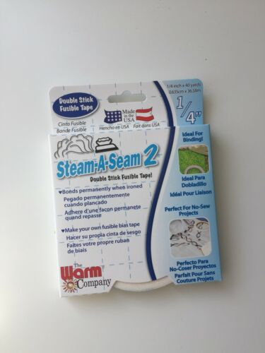 """The Warm Company Steam-a-Seam 2 Double Stick Fusible Tape 1//4"""" X40 Yards"""