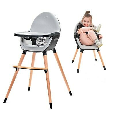 Systematic Kinderkraft Seggiolone Fini Grigio/nero Let Our Commodities Go To The World High Chairs Feeding
