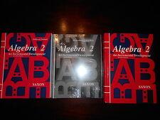 Saxon Algebra 2-  John Saxon textbook, solution manual, key & tests homeschool