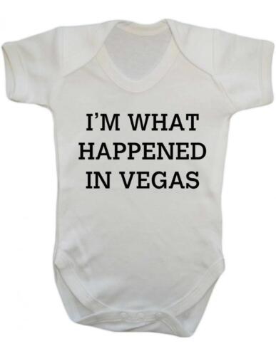 """/""""je suis ce qui est arrivé à Las Vegas/"""" Drôle Vegas Baby Grow//Gilet Baby Gilet//Cultiver"""