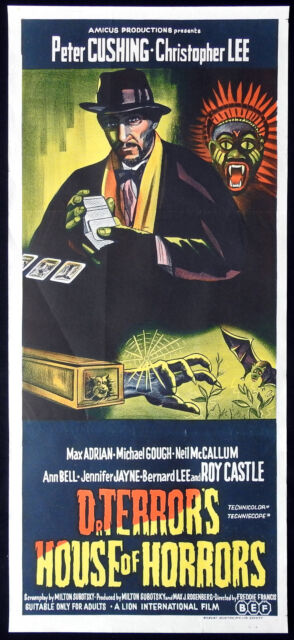 DR TERROR'S HOUSE OF HORRORS Original Daybill Movie Poster Christopher Lee