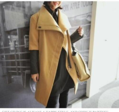 womens winter wool parkas leather sleeve parkas jacket coat outwear trench