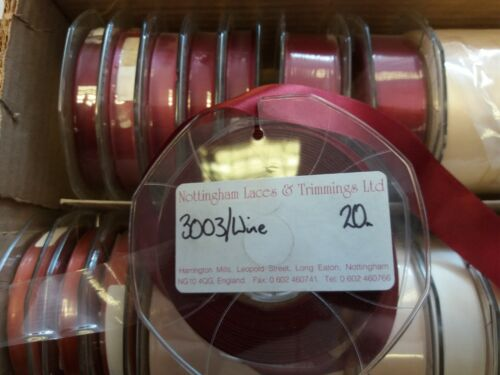 Double Faced Satin 22mm Various Colours 20m Full Reels