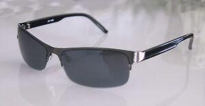 GIL-Design-Halbrand-Sonnenbrille-Titanfarben-UV-400-NEU-x6