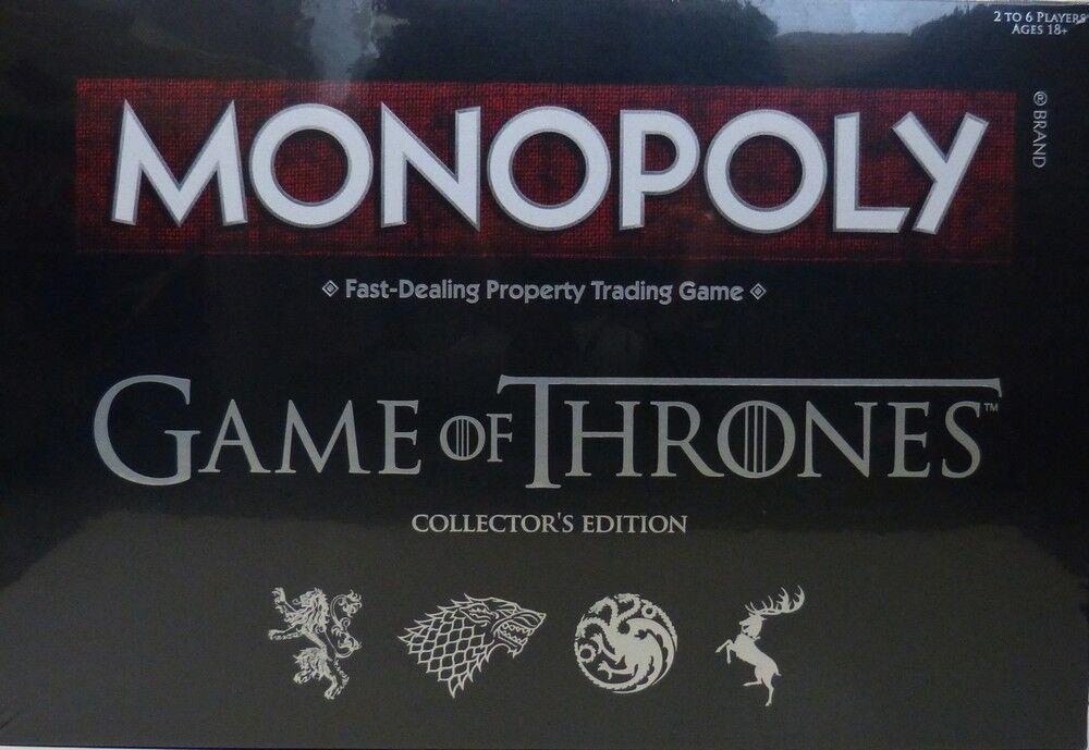 oferta especial Monopoly Juego of Thrones Thrones Thrones Collectors Edition (inglés) nuevo  contador genuino