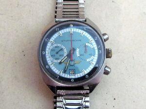 POLJOT-STURMANSKIE-Vintage-USSR-MILITARY-Pilot-Chronograph-Cal-3133-Wristwatch