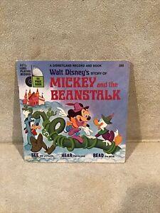 Walt Disney Story 348 Mickey And the Beanstalk Disneyland Book Vinyl Record