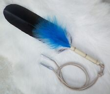 "Native American Eagle Feather Hair Tie 11""  Pow wow Regalia Smudging Ceremony"