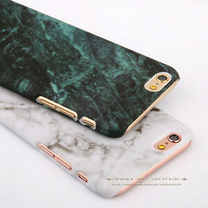 Glossy-Hard-Back-Granite-Marble-Phone-Case-Cover-For-Apple-iPhone-5s-6-6s-7-Plus