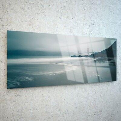 Glass print Wall art 100x50 Image Picture Beach Landscape