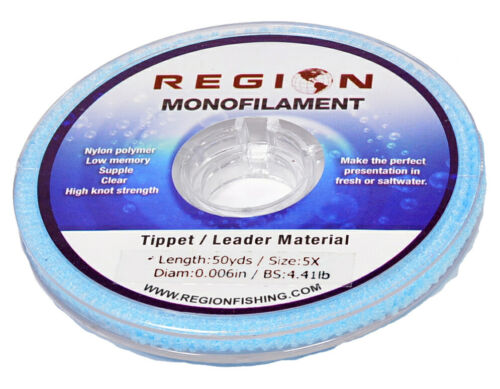 Choose from 0X thru 7X 2 Spools of 50yd Monofilament Fly Fishing Tippet Clear