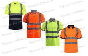Camisetas-de-hombre-polo-de-alta-visibilidad-Hi-Viz-Vis-Camiseta-Top-Luz-de-trabajo-de-cinta