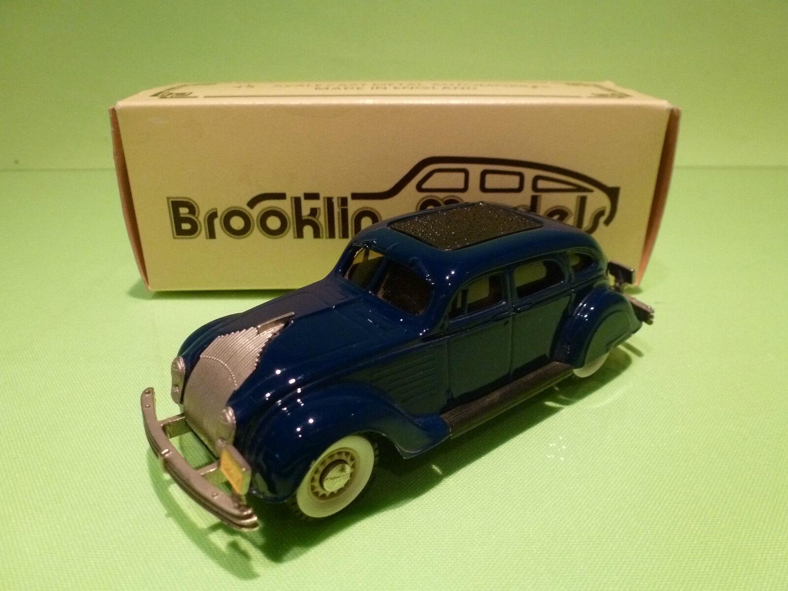 BROOKLIN MODELS BRK 7 CHRYSLER AIRFLOW 4-DOORS 1934 - 1 43 - NEAR MINT IN BOX