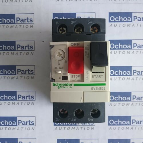 SCHNEIDER ELECTRIC GV2ME32 CIRCUIT BREAKER THERMAL MAGNETIC 24-32A SCREW