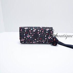 NWT-New-Kipling-AC8152-RUBI-Snap-Long-Wallet-Wristlet-Floral-Gardenia-Multi-48
