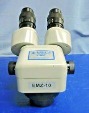Meiji Emz 10 Binocular Zoom Stereo Microscope With Pair Swf15x Eyepiece Lenses