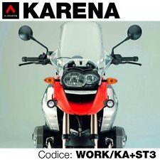 Kit 2 faretti led omologati KARENA vetro zigrinato + staffe x BMW R1200 GS 08 12