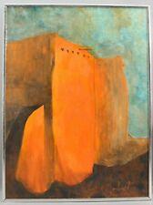 MICHAEL ISKRA Rancho de Taos New Mexico Pueblo Church Western Oil Painting