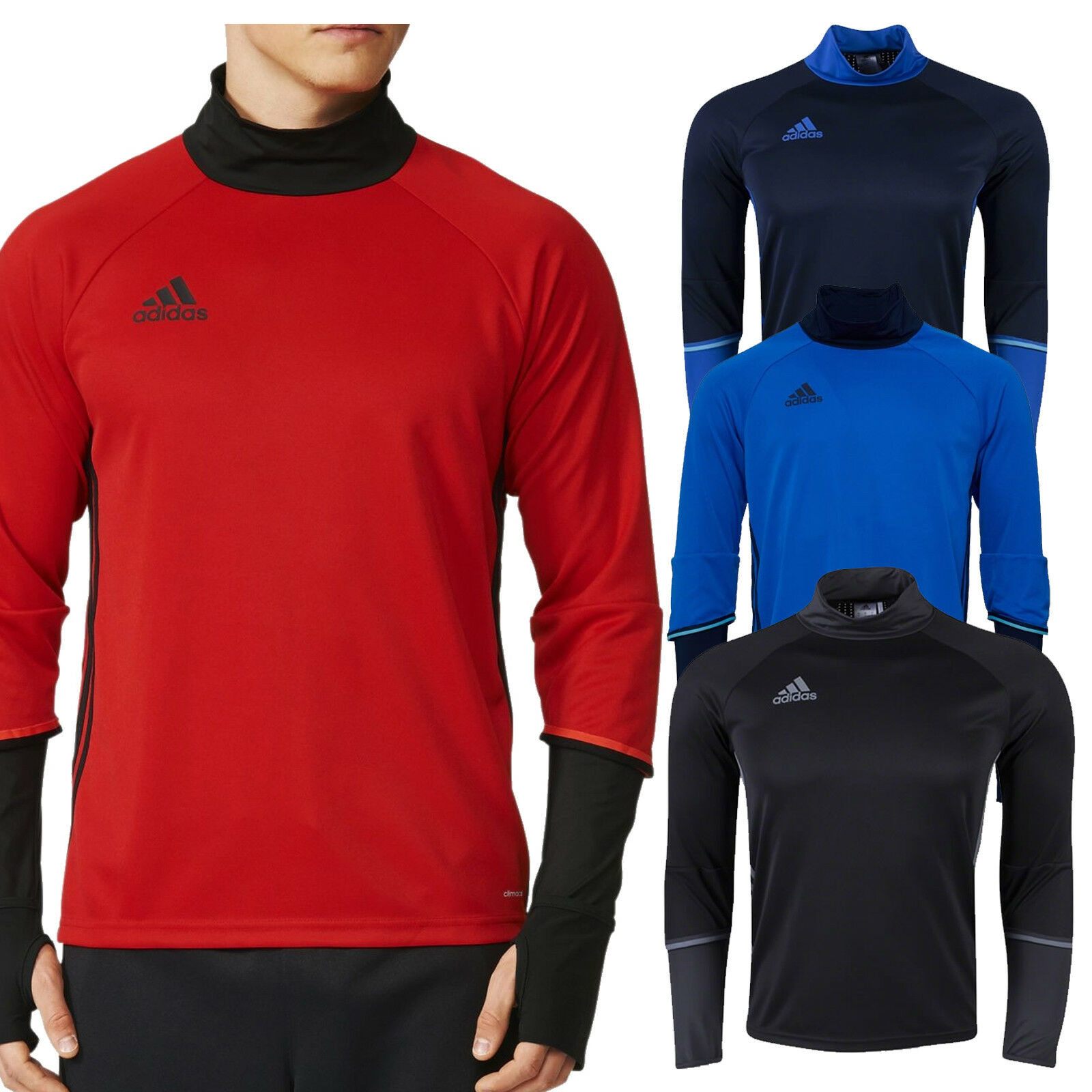 531ab5526 adidas Condivo 16 Mens Training Top Long Sleeve Jersey Climacool New ...