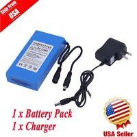 DC12V 9800mAh Super Rechargeable Portable Li-ion Battery US Plug Battery Pack BP