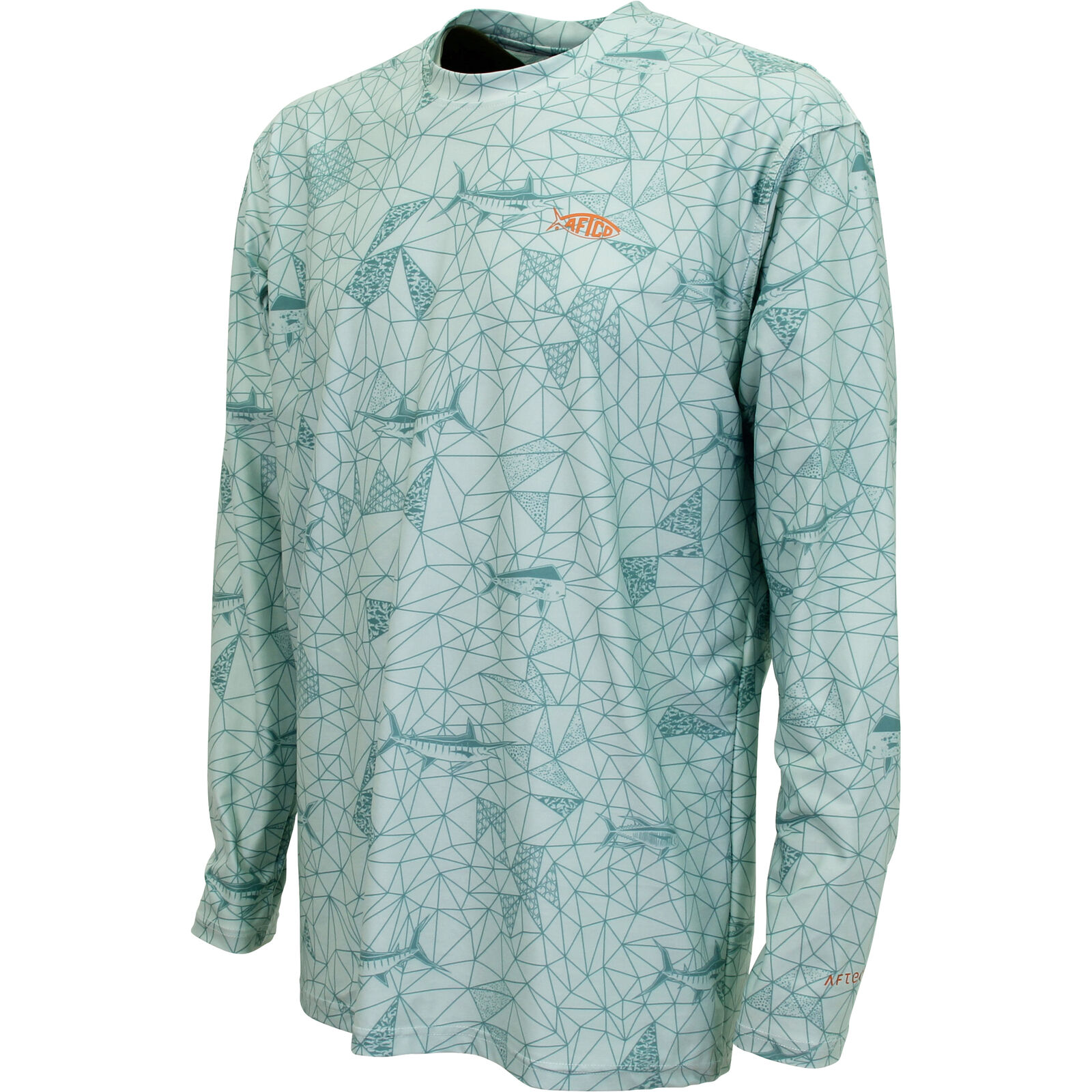 AFTCO Meisai Mens Long Sleeve Shirt, Moonstone, Small