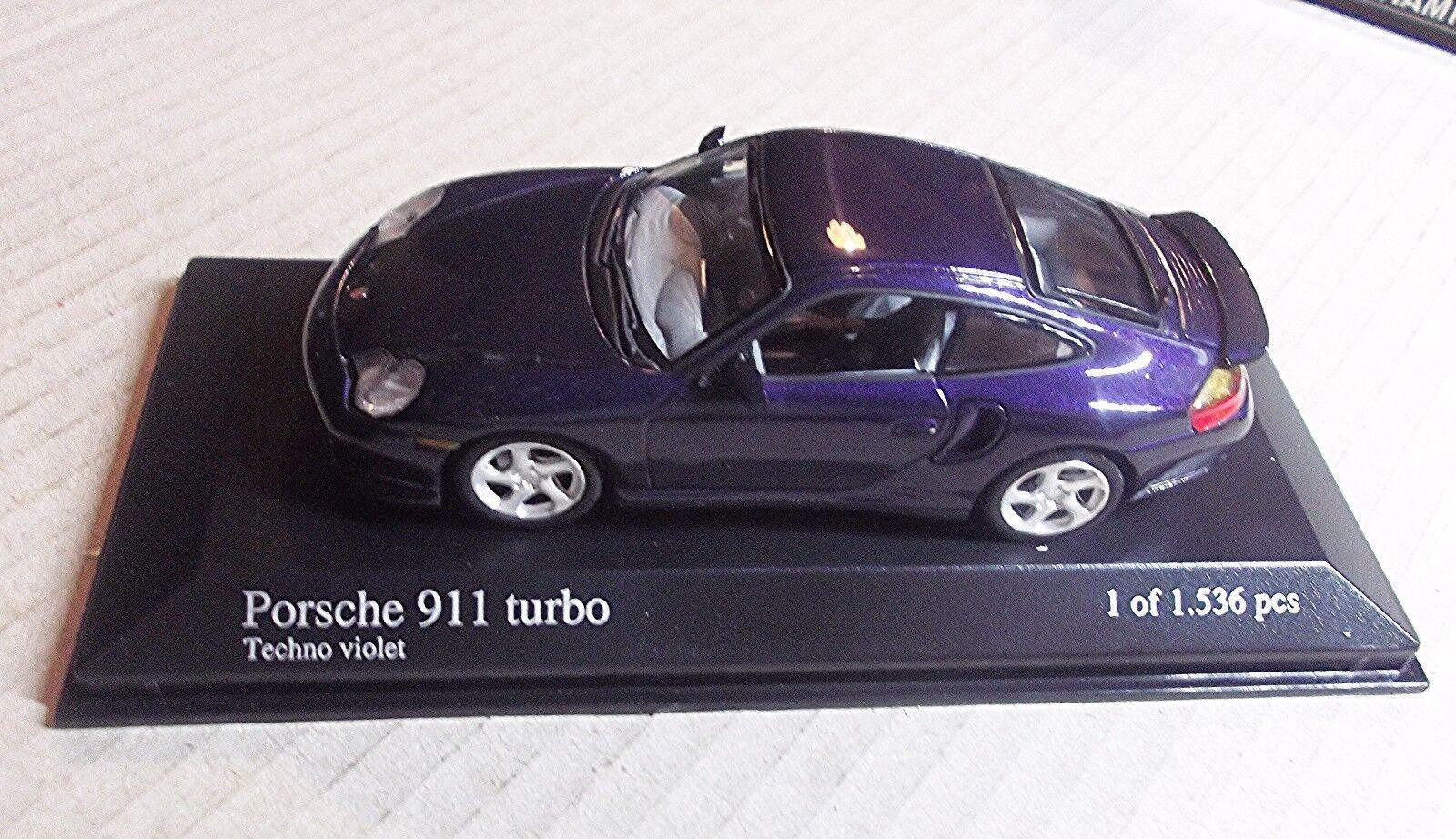 430069305 minichamps 1 43 skala - porsche 911 turbo 1999 - lila metallic