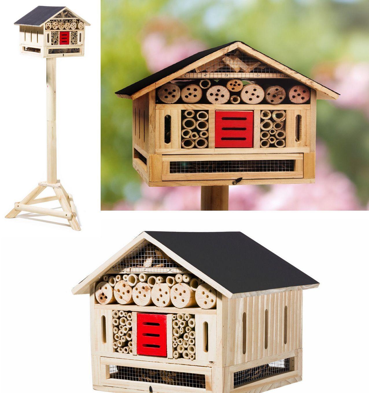 Insektenhotel Inseketenhaus Inseketenhaus Inseketenhaus Nistkasten Insekten Höhe 125cm Bienenhaus Brutplatz | Sehr gute Farbe  | Spaß  | Große Klassifizierung  c67cd4