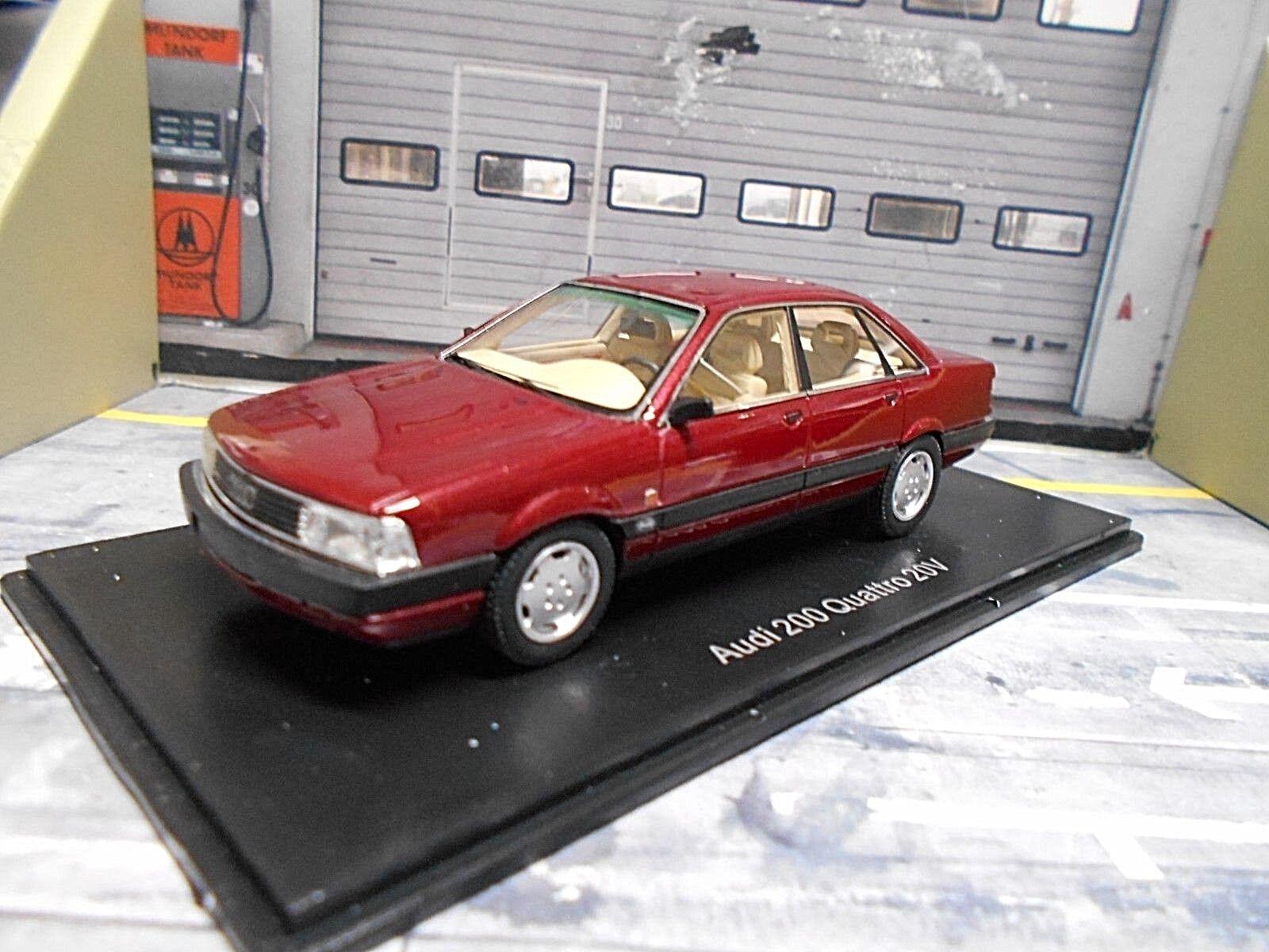 AUDI 200 QUATTRO 20 V Turbo Metallic Foncé Rouge rouge 1990 NEO Resin neuf 1 43