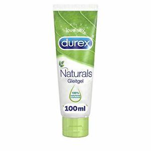 Durex Naturals Gleitgel auf Wasserbasis – Gleitgel aus 100% natürlichen Inhal