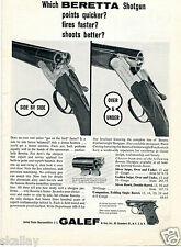 1963 Print Ad of JL Galef Beretta Silver Snipe & Silver Hawk Shotgun