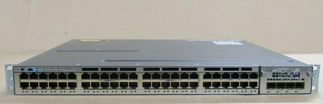 Cisco Catalyst WS-C3750X-48T-L 3750-X 48 Port Gigabit Switch + C3KX-Presque comme neuf-1G +1PS