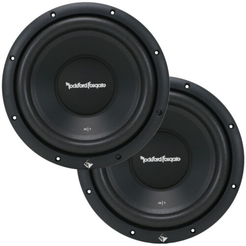"""2 Rockford Fosgate R1S412 Car Audio PRIME 12"""" Subwoofers R1S4-12 Subs 600W New"""