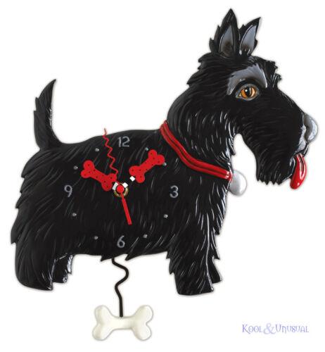 Fabulous Black SCOTTY DOG Designer Wall Clock by Allen Designs Scottish Terrier