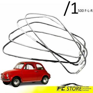 CORNICI-RASCHIAVETRO-VETRI-LATERALE-PORTE-KIT-4-PEZZI-FIAT-500-F-L-R-43-1