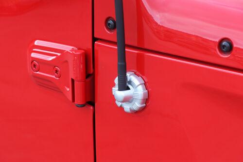 Car Elite Antenna Base Cover Radio Trim Silver ABS for 2018 Jeep Wrangler JL